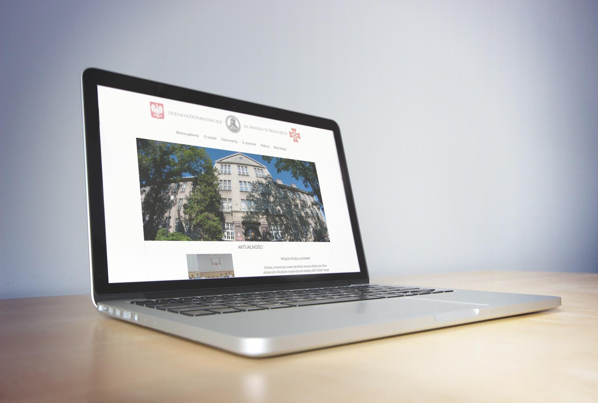 Strona www i rewitalizacja logo dla LO