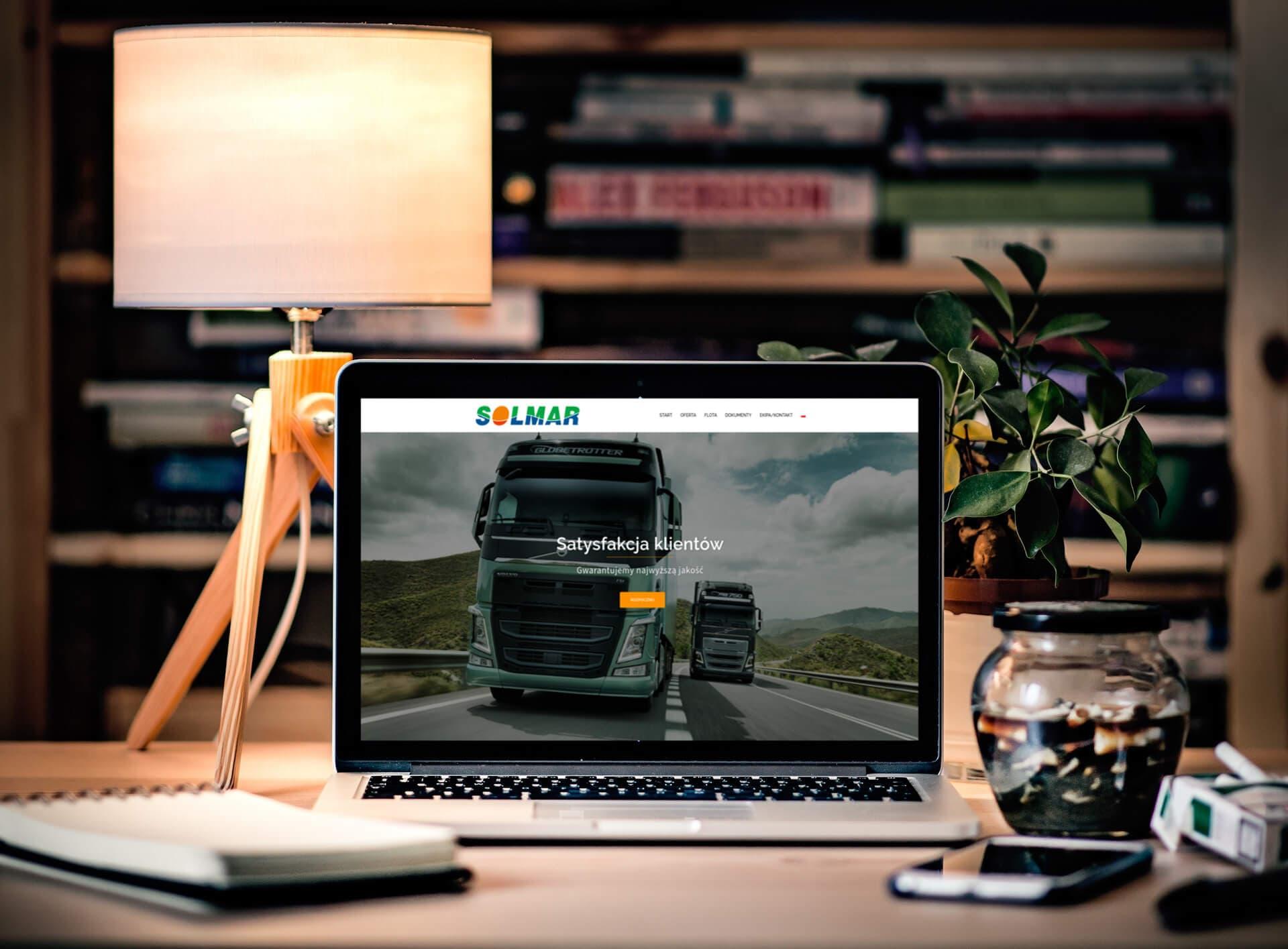 Strona www i sesja zdjęciowa dla przedsiębiorstwa transportowego